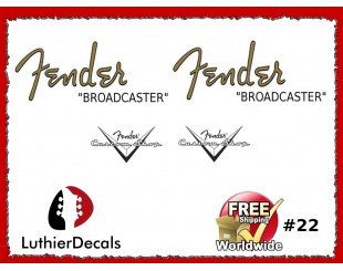 Fender Broadcaster Decals