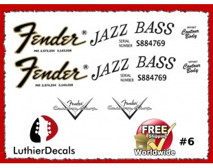 Fender Jazz Decals