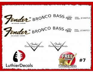 Fender Bronco Decals
