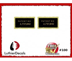 Humbucker Patent Number Decal Guitar Decal #100