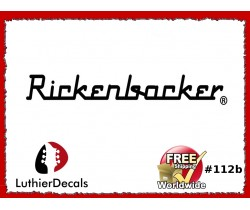 Rickenbacker Decals Guitar Waterslide Headstock logo #112b