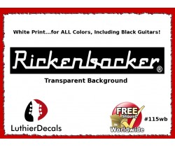 Rickenbacker Decals Guitar Waterslide Headstock logo #115wb