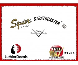 Fender Squier Stratocaster Guitar Decal #123b