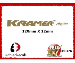 Kramer American Guitar Decal #137b