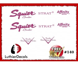 Squier Stratocaster Guitar Decal #140