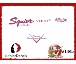 Squier Stratocaster Guitar Decal #140b