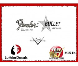 Fender Bullet Guitar Decal Waterslide #151b