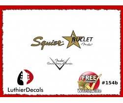 Squier Bullet Guitar Decal #154b