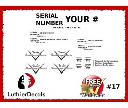 Guitar Serial Number Custom Decal #17