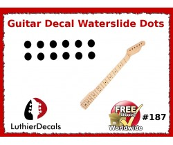Guitar Decal Fret Neck Waterslide Dots #187