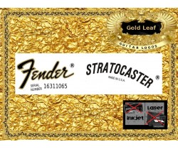 Fender Stratocaster Guitar Decal 18g