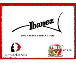 Ibanez Guitar Left Handed Decal #193b