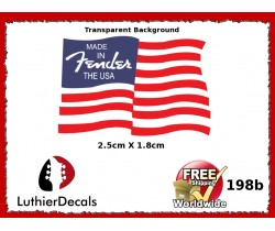 Fender Flag Guitar Decal Made In USA 198b