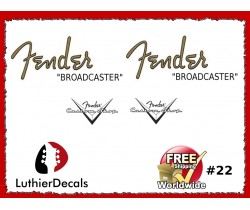 Fender Broadcaster Guitar Decal #22