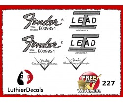 Fender Lead 1 Guitar Decal 227