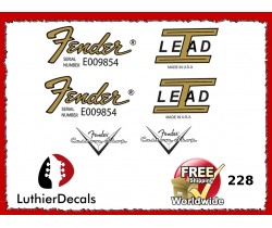 Fender Lead 1 Guitar Decal 228