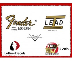 Fender Lead 1 Guitar Decal 228b
