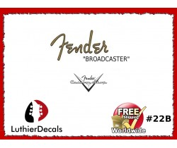 Fender Broadcaster Guitar Decal #22b