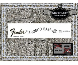 Fender Bronco Bass Guitar Decal 29s