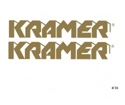 Kramer Guitar Decal #36
