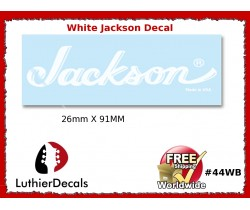 Jackson Decal Guitar White Decal #44wb Copy