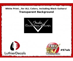 Fender Guitar Custom shop White Decal #97wb