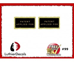 Humbucker PAF Patent Number Applied For Decal Guitar  Decal #99
