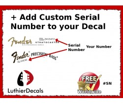 Add Custom Serial Number to Your Guitar Decal #SN