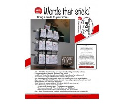 Words that Stick Cart with Stickers